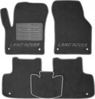 Коврики в салон для Land Rover Discovery Sport '14- текстильные, серые (Люкс)