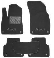 Коврики в салон для Audi Q7 '15- текстильные, черные (Премиум) 8 клипс