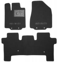 Коврики в салон для Infiniti JX (QX60) '12- текстильные, черные (Премиум)