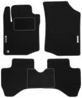 Коврики в салон для Peugeot 107 '05-14 текстильные, черные (Стандарт)