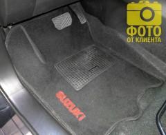 Коврики в салон для Suzuki SX4 '13- текстильные, черные (Стандарт)
