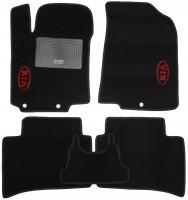 Коврики в салон для Kia Rio '15- текстильные, черные (Стандарт)