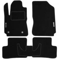 Коврики в салон для Citroen C4 Cactus '14- текстильные, черные (Стандарт)
