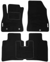 Коврики в салон для Nissan Sentra '14- текстильные, черные (Стандарт)