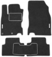 Коврики в салон для Nissan Qashqai '14- текстильные, серые (Стандарт)