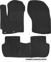 Коврики в салон для Mitsubishi Galant '04-12 текстильные, темно-серые (Корона)