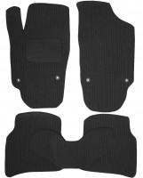 Коврики в салон для Volkswagen Polo '10-, седан текстильные, темно-серые (Корона) 4 клипсы