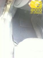 Коврики в салон для Daewoo Lanos / Sens '98- текстильные, темно-серые (Корона)