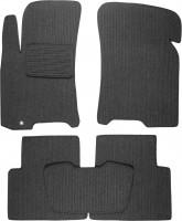 Коврики в салон для Daewoo Gentra '13- текстильные, темно-серые (Корона)