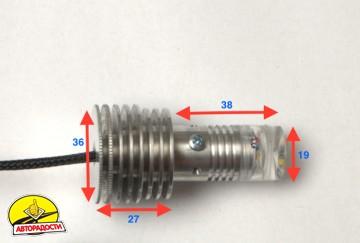 Дневные ходовые огни в поворотники TDRL 4,5 Base для Mitsubishi Outlander XL '07-12 (ProBright)