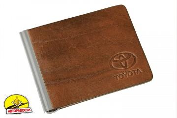Зажим для денег коричневый Toyota