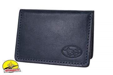Обложка для прав/тех.паспорта черная 211510 Subaru