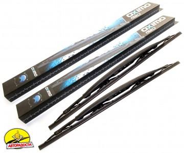 Щетки стеклоочистителя каркасные со спойлером Oximo 600 и 475 мм. (набор) wusp600+475