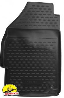 Коврики в салон для Chevrolet Spark '11- полиуретановые, черные (Novline)