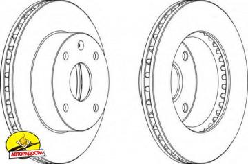 Комплект передних тормозных дисков FERODO DDF1257 (2 шт.)