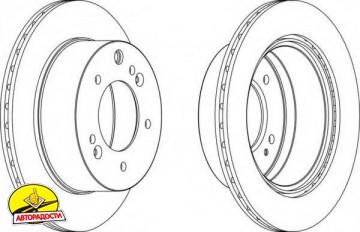 Комплект задних тормозных дисков FERODO DDF1543 (2 шт.)