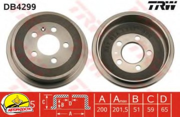 Тормозной барабан TRW DB4299