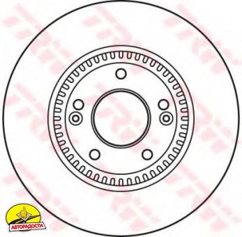 Комплект тормозных дисков TRW DF6108S (2 шт.)