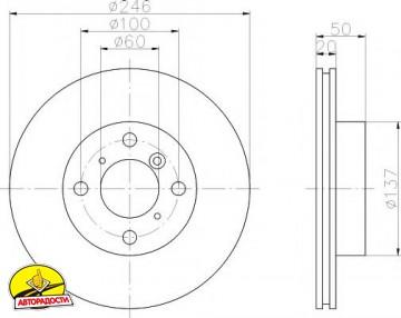 Комплект тормозных дисков TEXTAR 92104500 (2 шт.)
