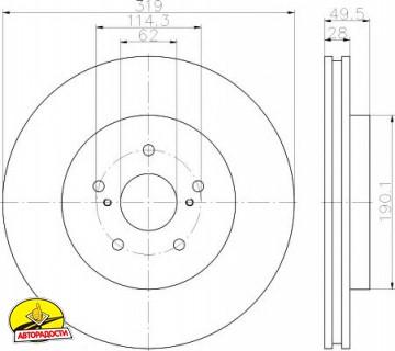 Комплект тормозных дисков TEXTAR 92171503 (2 шт.)