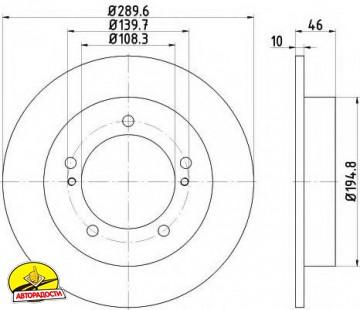 Комплект тормозных дисков TEXTAR 92237300 (2 шт.)