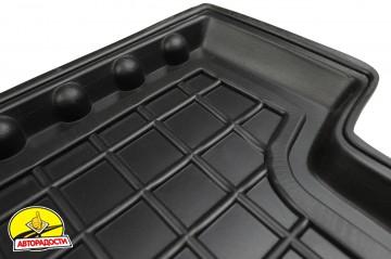 Коврики в салон для Nissan Leaf '10-17 резиновые, черные (AVTO-Gumm)