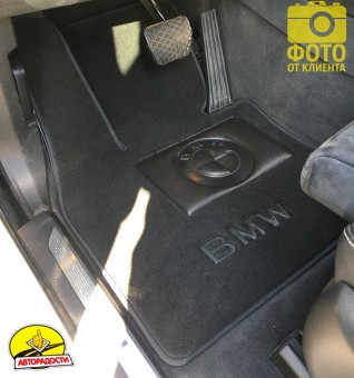 Коврики в салон для BMW X5 F15 '14- текстильные, черные (Премиум)