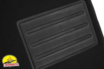 Коврики в салон для Land Rover Range Rover Vogue '02-12 текстильные, черные (Премиум)