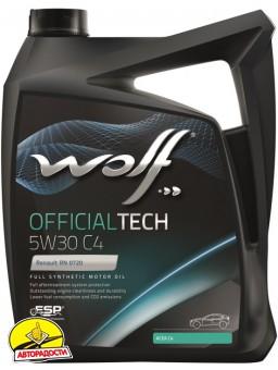 Моторное масло Wolf Officialtech 5W-30 C4 (5л)