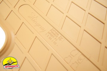 Коврики в салон для Infiniti FX '03-08 резиновые, бежевые (Stingray)