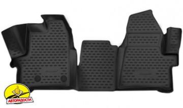 Коврики в салон 3D для Ford Tourneo Custom '13- полиуретановые (Novline) 1+2