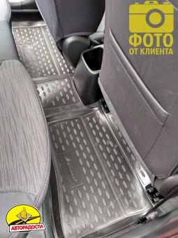 Коврики в салон 3D для Hyundai Accent (Solaris) '11-17 полиуретановые (Novline)