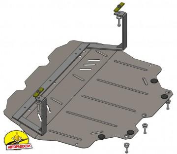 Защита двигателя и КПП, радиатора для Volkswagen Jetta VI '10-, V-все, АКПП, МКПП (Кольчуга) Zipoflex