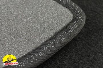 Коврики в салон для Suzuki SX4 с 2013 текстильные, черные (Премиум)