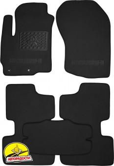 Коврики в салон для Mitsubishi ASX с 2010 текстильные, черные (Премиум)