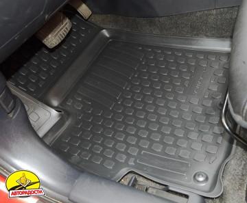 Коврики в салон для Mitsubishi Lancer X (10) '07- полиуретановые, черные (L.Locker)