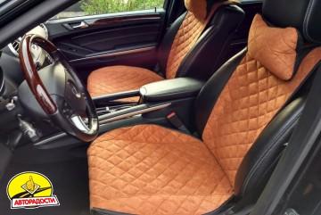Накидки на передние сидения  АVторитет Премиум, коричневые