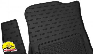 Коврики в салон для Chery Tiggo 2 c 2016 резиновые, черные (AVTO-Gumm)