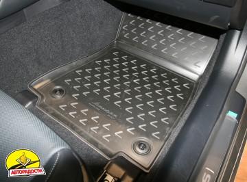 Коврики в салон 3D для Lexus RC с 2014 полиуретановые, черные (Novline / Element)
