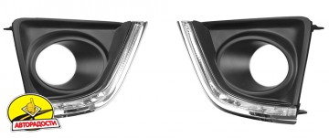 Дневные ходовые огни для Toyota Corolla c 2013, светодиодные, комплект (Dlaa)