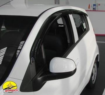 Дефлекторы окон для Chevrolet Spark '11- (REIN)