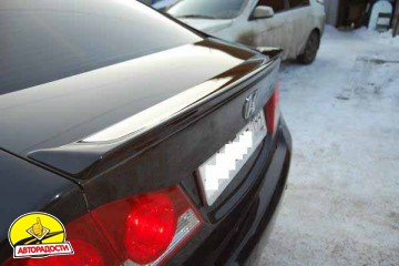 Задний спойлер на багажник для Honda Civic 4D '12-, под покраску (ASP)