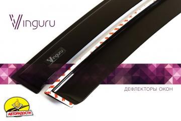 Дефлекторы окон для Hyundai Accent '17-, седан, поликарбонат (Vinguru)