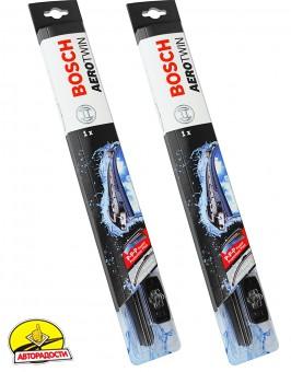 Щетки стеклоочистителя бескаркасные Bosch AeroTwin Plus 700 и 700 мм. (набор)