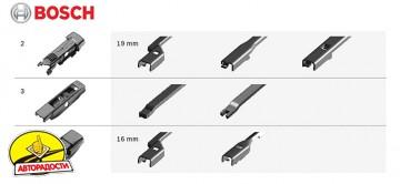 Щетки стеклоочистителя бескаркасные Bosch AeroTwin Plus 700 и 380 мм. (набор)