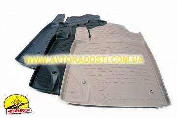 Коврики в салон для Toyota Land Cruiser Prado 150 '10-13 полиуретановые, бежевые (Novline) 5-мест