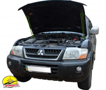 Газовые упоры капота для  Mitsubishi Pajero Wagon 3 '00-07, 2 шт.