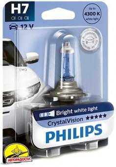 Автомобильная лампочка Philips CristalVision H7 4300К 12972CVB1