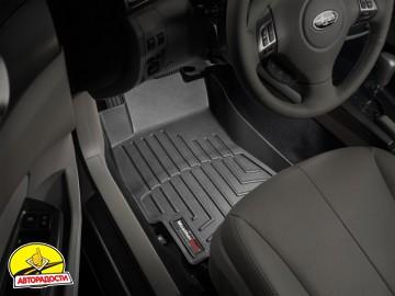 Коврики в салон для Subaru Forester '08-12 черные, резиновые 3D (WeatherTech)
