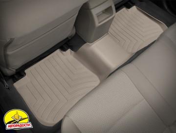 Коврики в салон для Subaru Legacy '10- бежевые, резиновые 3D (WeatherTech)